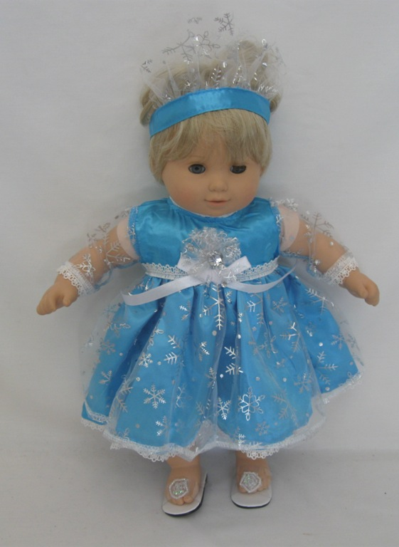 Bitty Baby Turquoise Elsa Dress