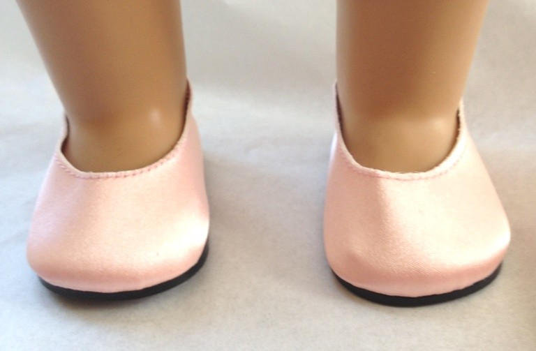 Light Pink Satin Slip-Ons