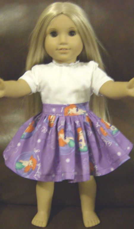 Ariel Purple Princess Skirt