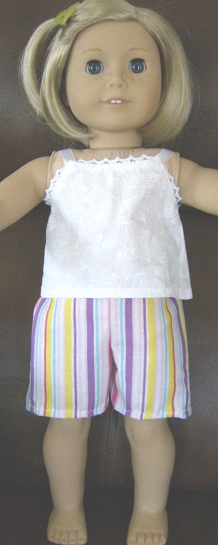 Striped Shorts Set