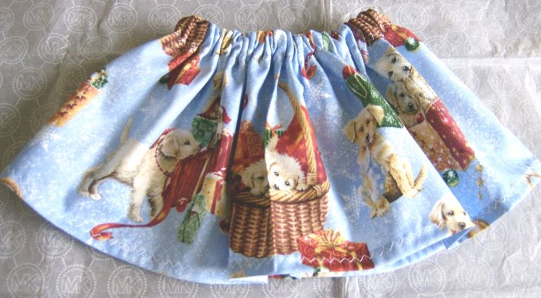 Christmas Puppies Skirt