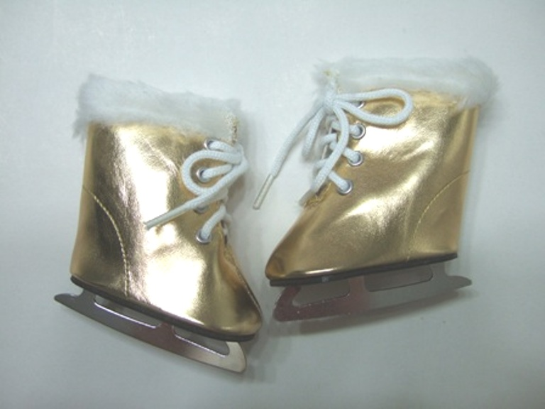 Gold Metallic Fury Ice Skates