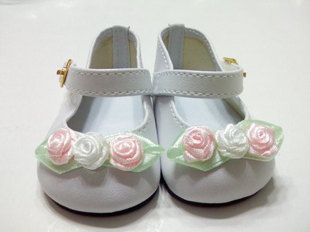 White Rose Toed Shoes