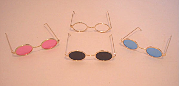 Pink Glass Oval Sunglasses
