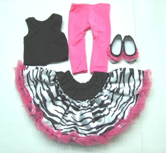 Zebra Print Skirt Set