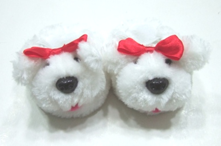 Furry Dog Slippers