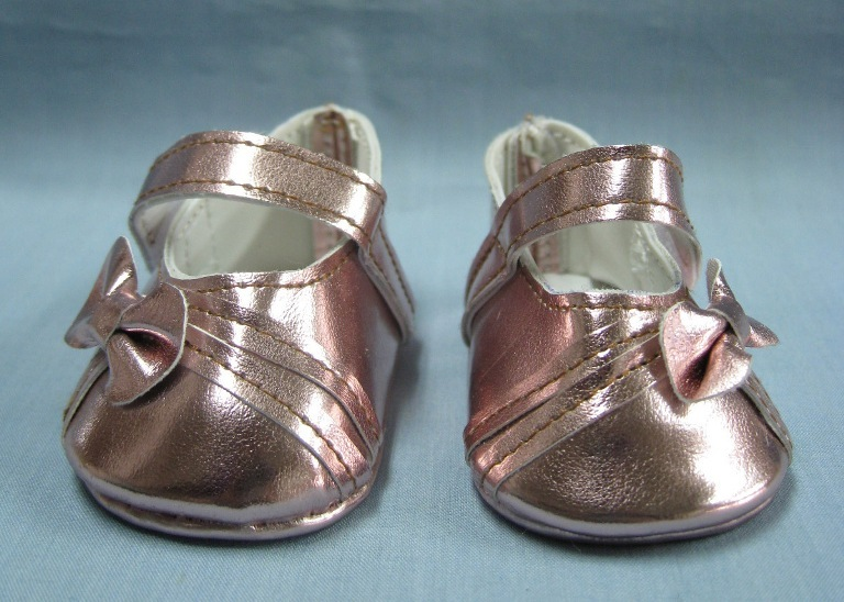 Metallic Pink Bow Shoe