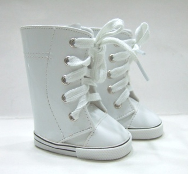 Tall White Vinyl Sneeker Boot