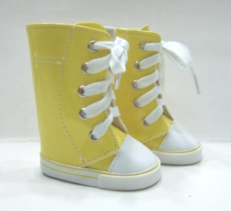 Tall Yellow Vinyl Sneeker Boot