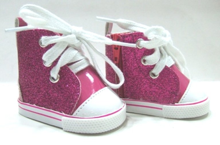 Hot Pink Glitter Tennis Shoes