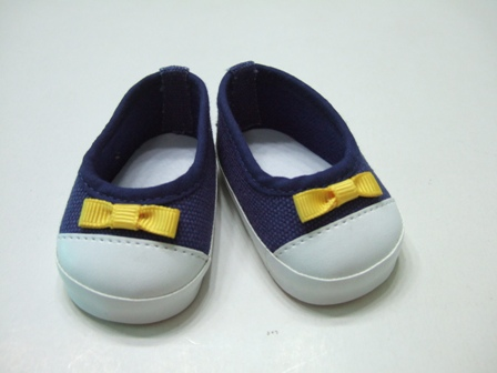 Navy Canvas Slip-On Shoes