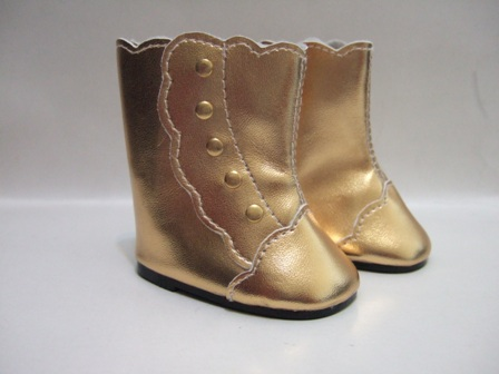 Gold Fancy Boots