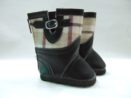Brown Plaid Boots
