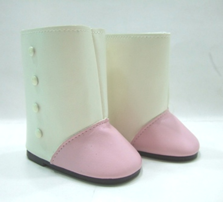 Pink and Cream Victorian Button Boot