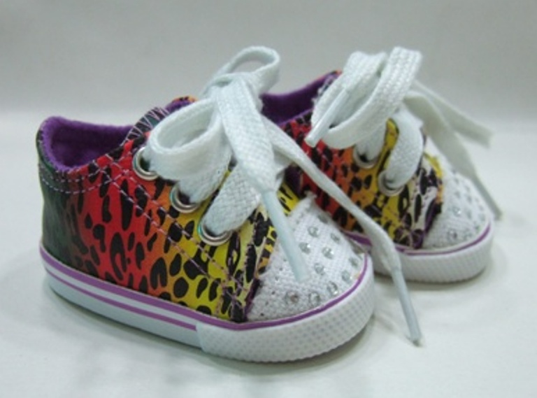 Multi Colored BLING Animal Print Tennis Shoes