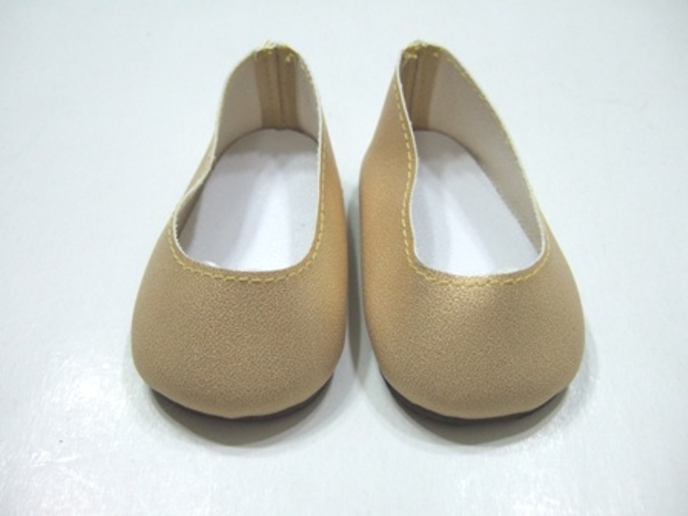 Gold Matt Slip-Ons