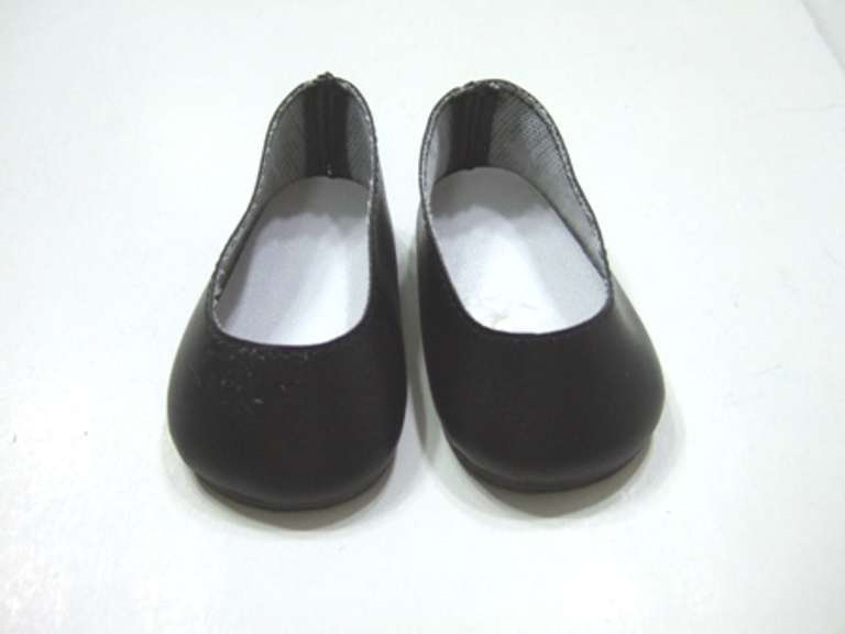 Black Matt Slip-Ons