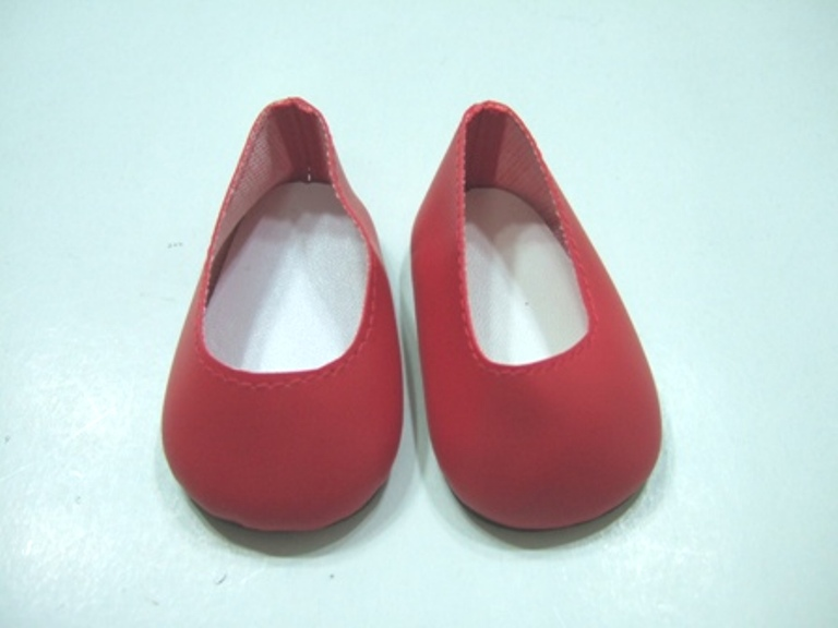 Red Matt Slip-Ons