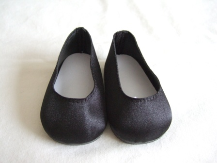 Black Satin Slip-Ons