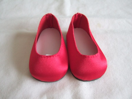Red Satin Slip-Ons