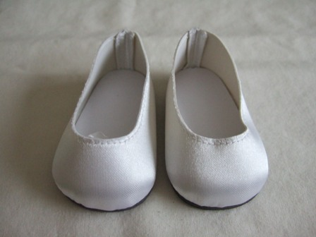 White Satin Slip-Ons