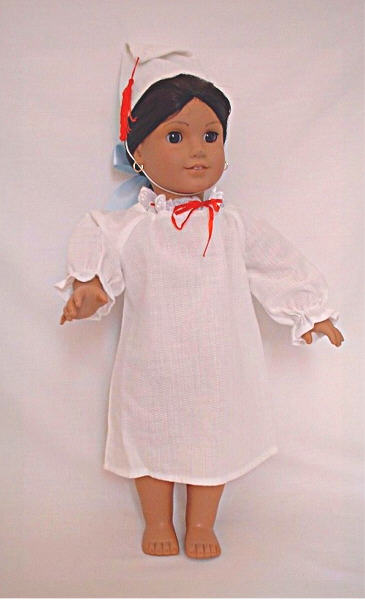 Josefina Nightie / Mexican nightgown with cap:
