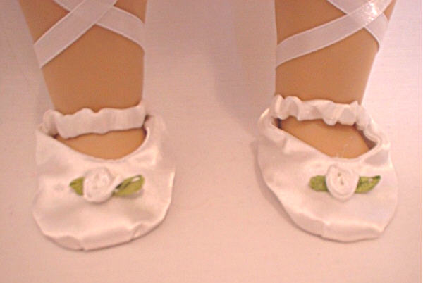 White Rosebud Ballet Slippers