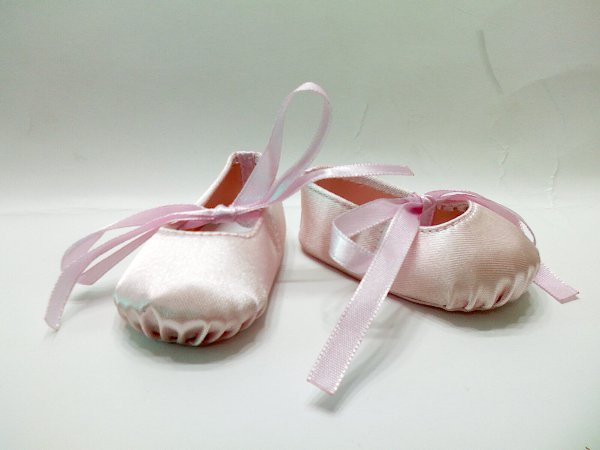 Pink Hard Toe Ballerina Slippers