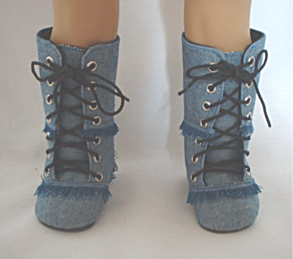Light Denim Boots