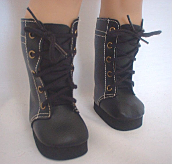 Black High Lace Boot