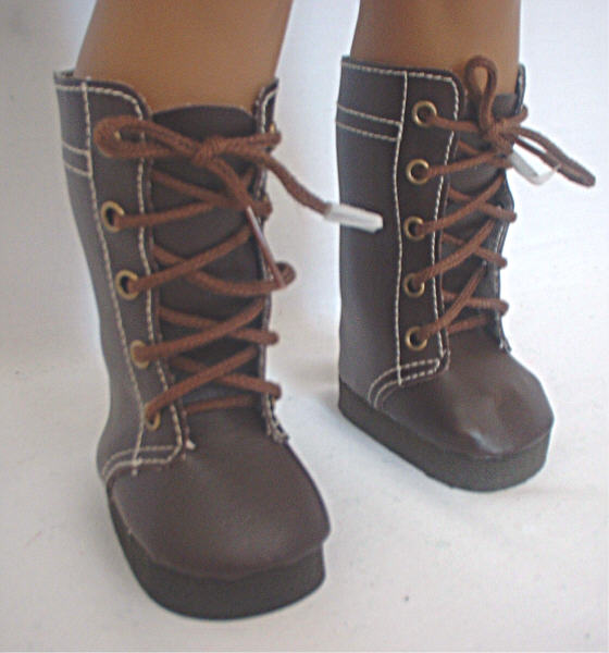 Brown High Lace Boot