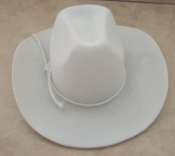 666b0d5f2 White Cowboy Hat [cbh-wht] - $7.99 : Doll Clothes Store, Clothes for ...