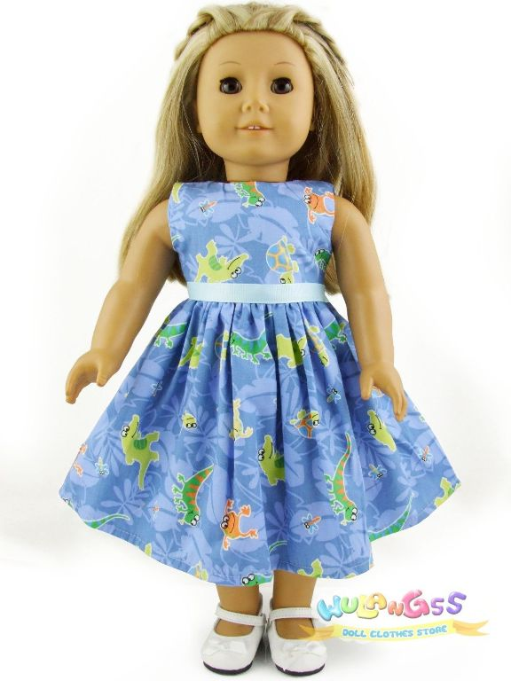 Blue Dinosaur Summer Dress