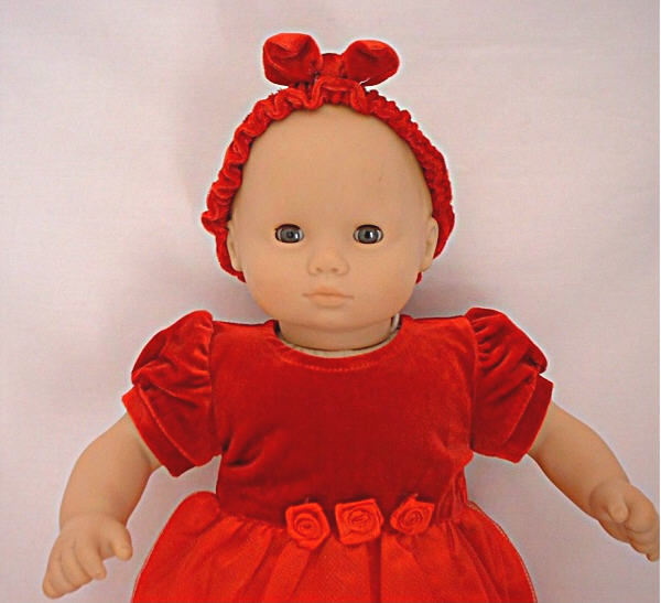 Bitty Baby Red Christmas Dress