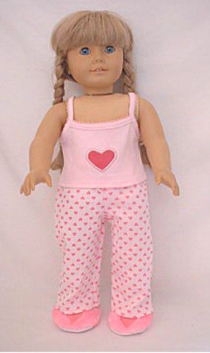 Pink Tank and Heart Print Pajama Pants
