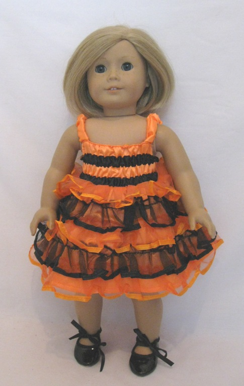 Orange and Black Dance Dress