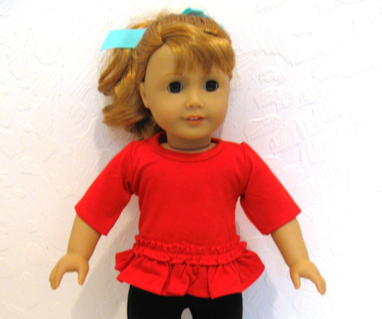 Red Long T-Shirt With Ruffle