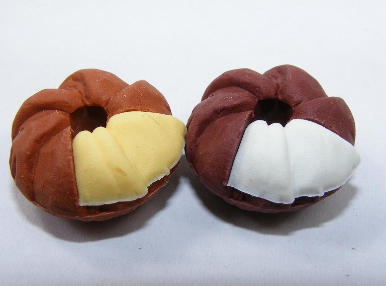 Donuts Chocolate with Yellow, White with Chocolate