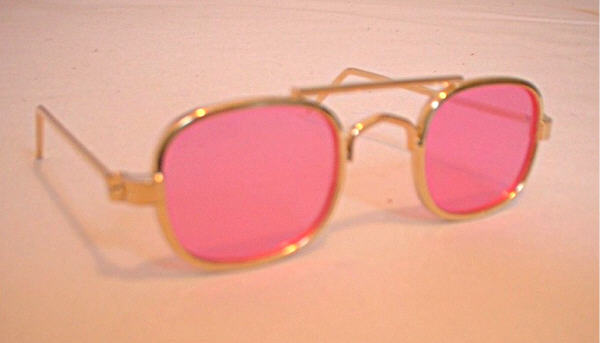 Pink Lense Aviator Glasses
