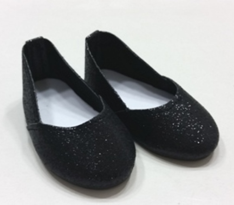 Black Glitter Slip On Shoe