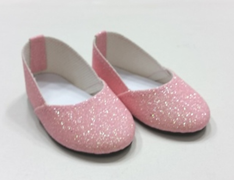 Pink Glitter Slip On Shoe