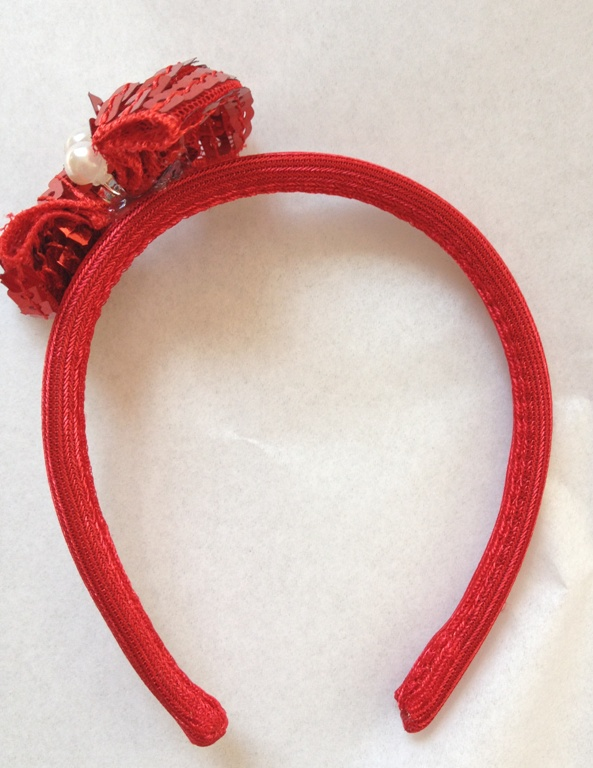 Red Sequin Head Band