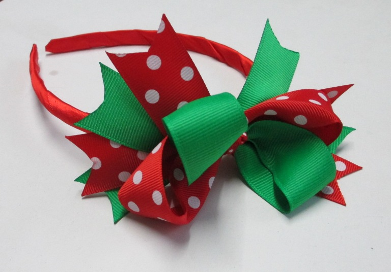 Red and Green Head Band