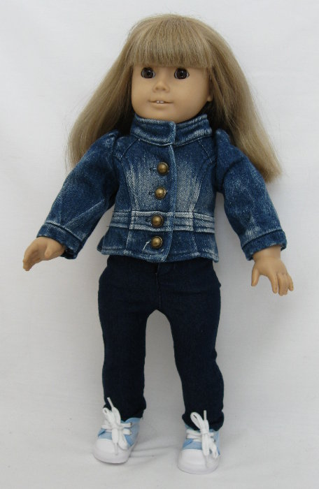 Dark Denim Band Jacket