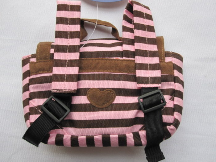 Pink and Brown Back Pack