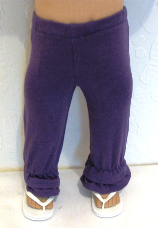 Purple Ruffled Pants
