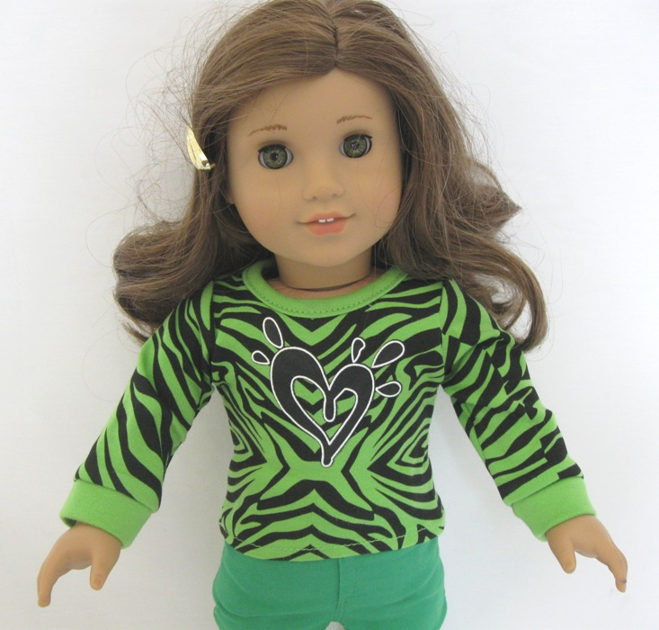 Neon Green Leopard Heart Top