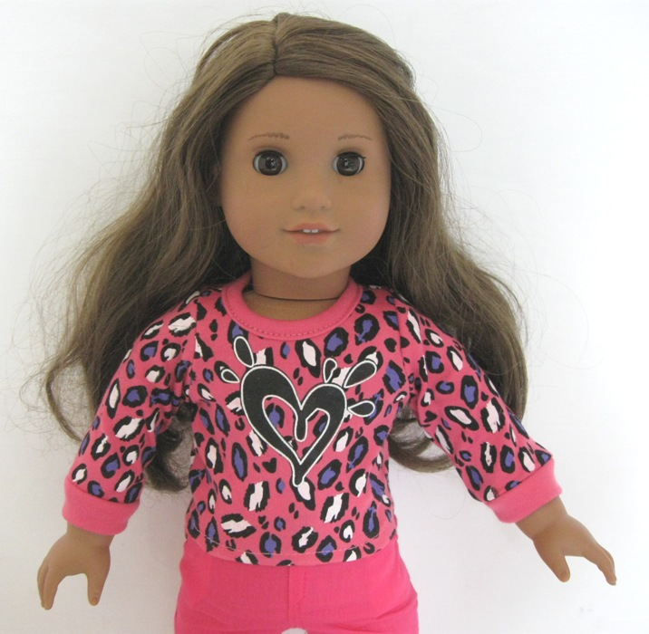 Hot Pink Leopard Heart Top