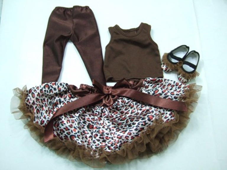 Brown Cheetah Print Skirt set
