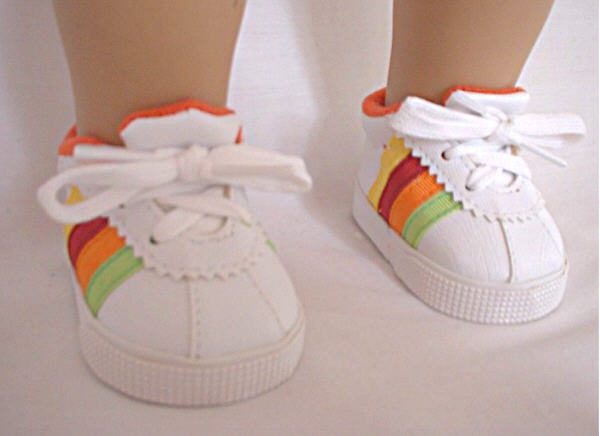 Rainbow Tennis Shoe
